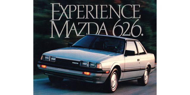 magazine advertisement for the 1984 mazda 626
