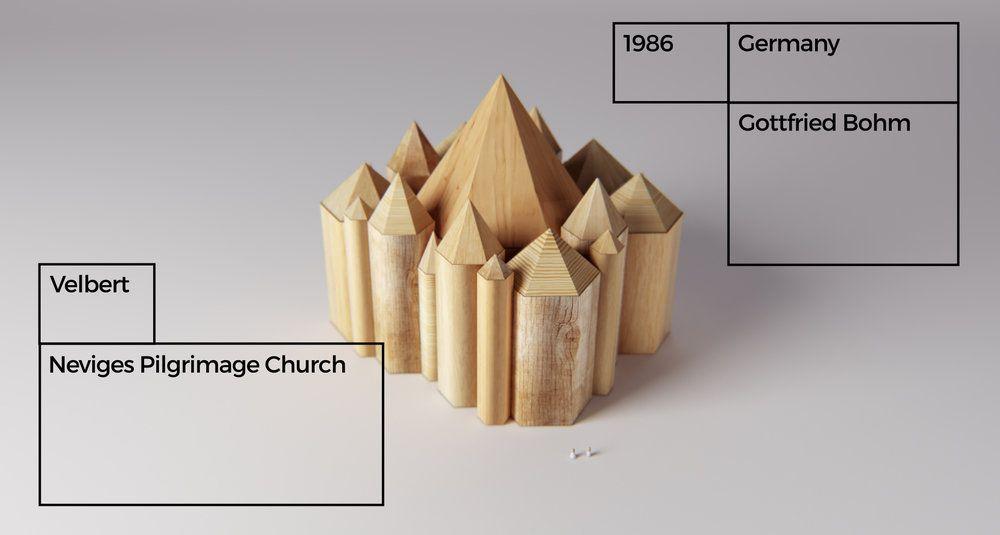 Edificios de premios Pritzker hechos con bloques de madera