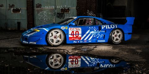 this impossibly cool ferrari f40 lm is for sale
