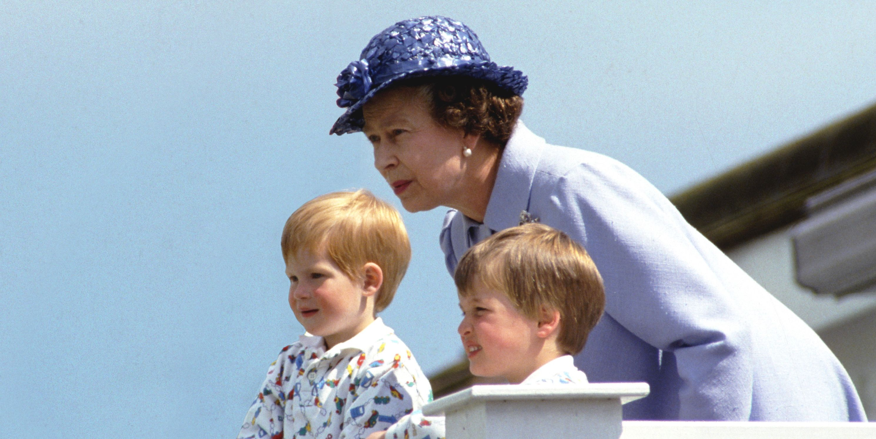 queen elizabeth prince william prince harry 1987