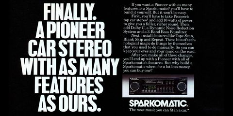 1987 Sparkomatic Tape Deck Advertisement