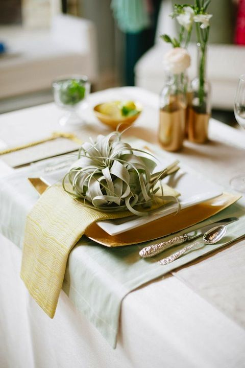Table, Green, Napkin, Tablecloth, Furniture, Yellow, Room, Textile, Linens, Interior design,