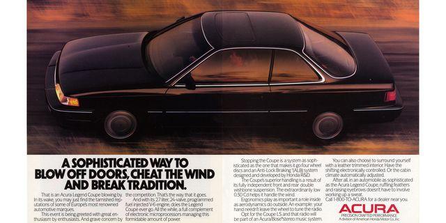 1988 acura legend coupe magazine advertisement
