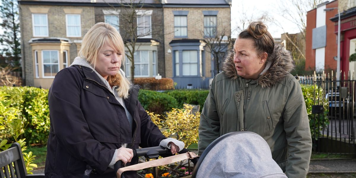 EastEnders' Sharon stopped in her tracks by Karen conversation after boat tragedy