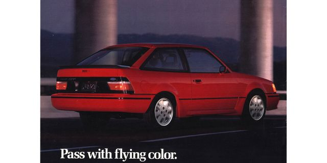 1989 ford escort gt magazine advertisement