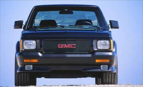 Land vehicle, Vehicle, Car, Gmc, Sport utility vehicle, Gmc syclone, Pickup truck, City car,