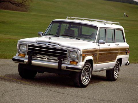 Land vehicle, Vehicle, Car, Jeep wagoneer, Sport utility vehicle, Full-size car, Jeep, Classic car, Hardtop, Ford motor company,