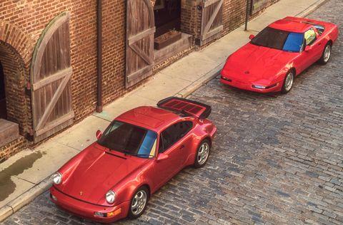 1991 chevrolet corvette zr 1, 1991 porsche 911 turbo