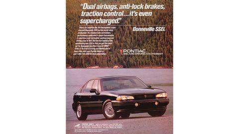 1993 Pontiac Bonneville SSEi magazine ad