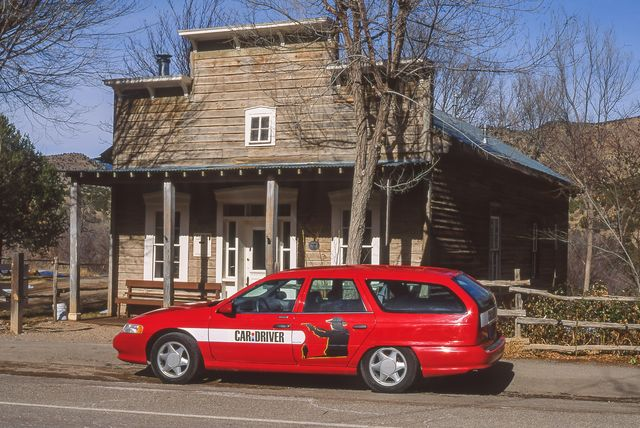 1993 ford taurus sho wagon custom on the trail of billy the kid in lincoln, new mexico