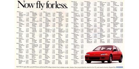 1993 Honda Civic magazine advertisement