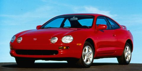 Land vehicle, Vehicle, Car, Sports car, Toyota, Toyota celica gt-four, Sedan, Hardtop, Performance car, Automotive wheel system,