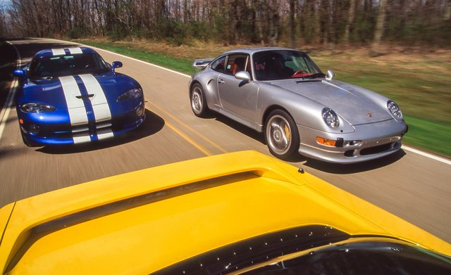 1997 dodge viper gts, 1997 porsche 911 turbo s, 1997 acura nsxt