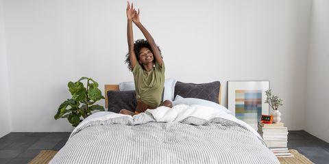 Bedroom, Bed, Furniture, Bed sheet, Mattress, Room, Bedding, Comfort, Bed frame, Textile,