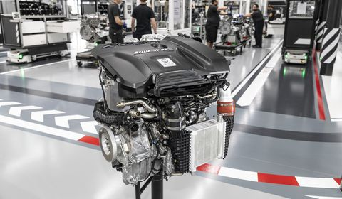 Mercedes-AMG's New 416-HP Engine Is the World's Most Powerful Four-Cylinder