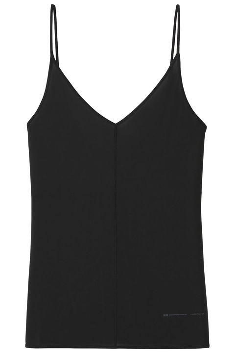 Clothing, Black, camisoles, Undergarment, Sleeveless shirt, Crop top, Outerwear, Vest, Shirt, Sportswear,