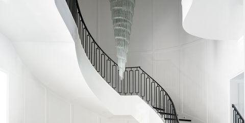 Stairs, Interior design, Architecture, Room, Floor, Design, House, Material property, Building, Technology,