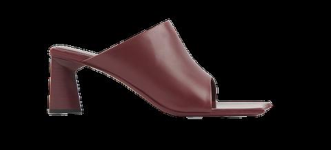 Footwear, Brown, Slingback, Sandal, Shoe, Maroon, Tan, High heels, Leather, Beige,