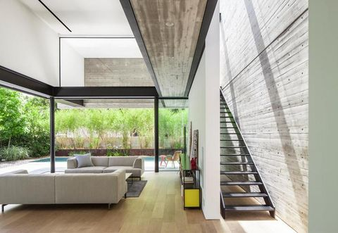 Architecture, Interior design, Floor, Property, Flooring, Wall, Ceiling, Room, Couch, Real estate,