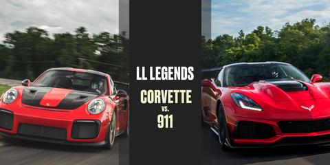Chevrolet Corvette vs. Porsche 911 at VIR