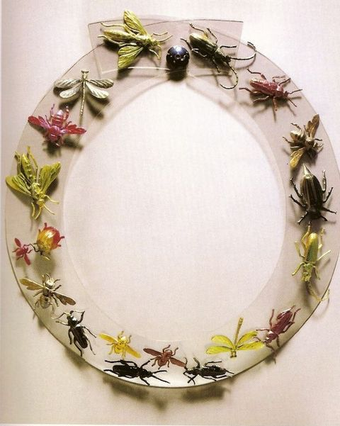 insect necklace by schiaparelli, 1938