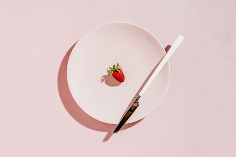 Strawberry, Strawberries, Plate, Still life photography, Fork, Illustration, Food, Tableware, Cutlery,