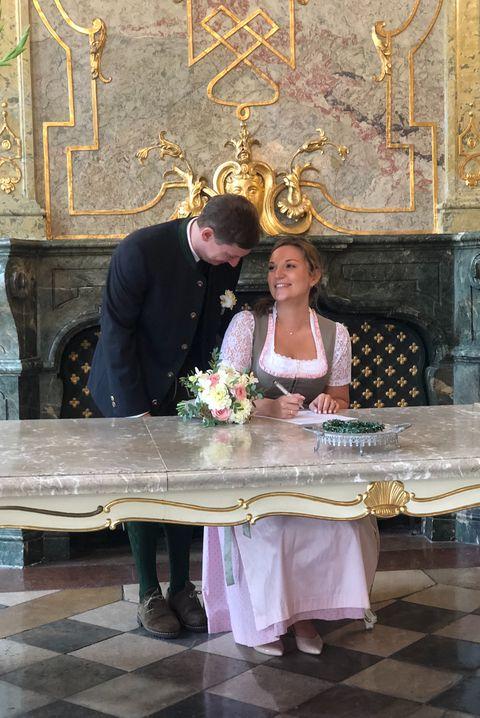 Altar, Table, Event, Ceremony, Furniture, Temple, Dress, Religious institute, Flower, Wedding,