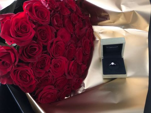プロポーズは40本のバラとともに。オフィシャル・ブライズ mariさん