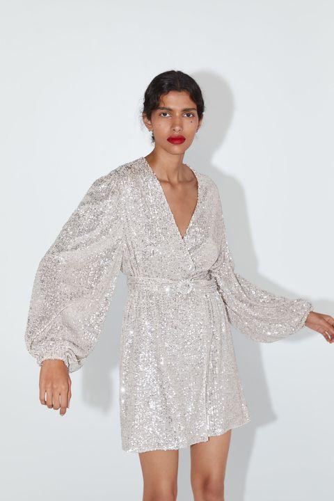 imágenes detalladas salida de fábrica venta más barata Paula Echevarría y el vestido corto de lentejuelas de Zara ideal