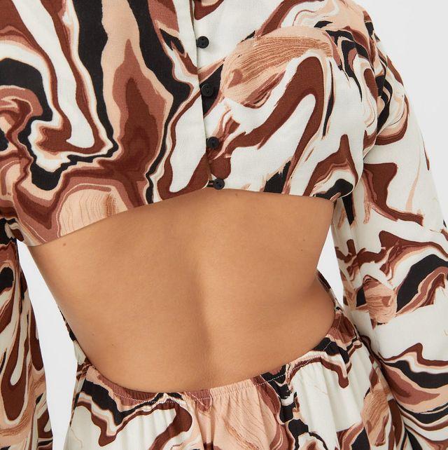 stradivarius vestido cut out