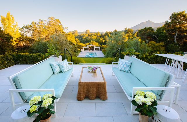 outdoor terrace of the marin county house