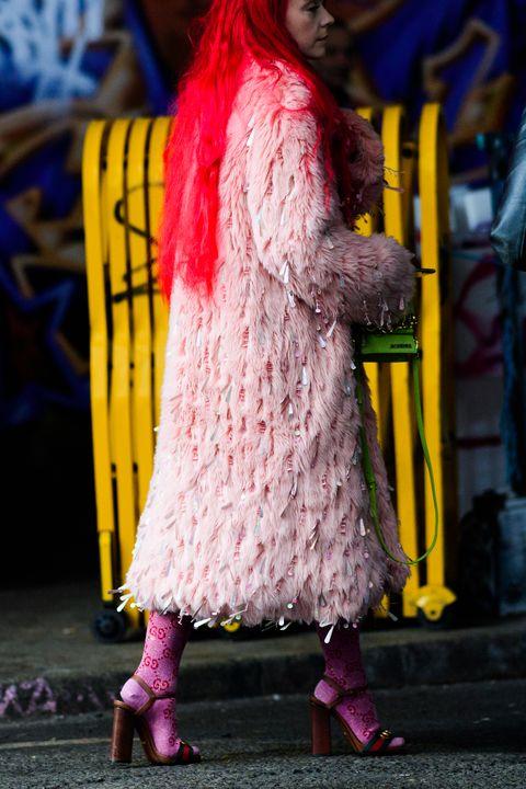 Pink, Yellow, Purple, Blue, Red, Magenta, Fashion, Snapshot, Street fashion, Dress,