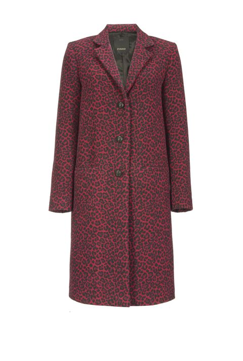 Clothing, Outerwear, Coat, Red, Sleeve, Maroon, Violet, Overcoat, Dress, Collar,