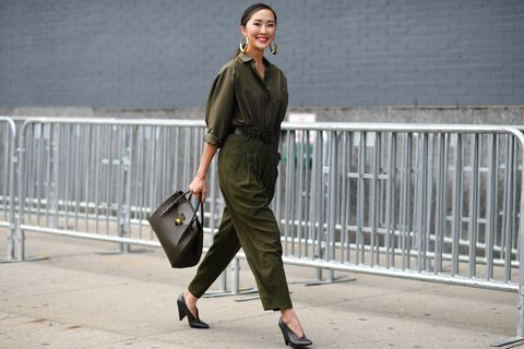 Clothing, Street fashion, Shoulder, Fashion, Snapshot, Brown, Waist, Footwear, Jeans, Outerwear,