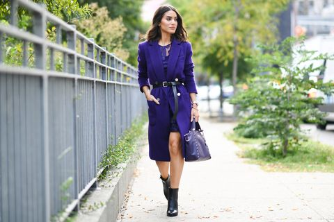 Clothing, Street fashion, Blue, Purple, Fashion, Cobalt blue, Footwear, Dress, Electric blue, Knee,