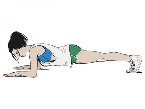 plank squeeze