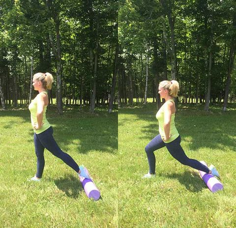 reverse rolling lunges