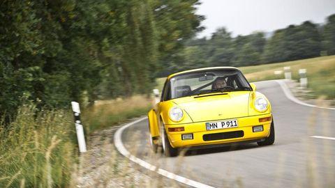Land vehicle, Vehicle, Car, Regularity rally, Yellow, Coupé, Sports car, Motorsport, Racing, Automotive design,