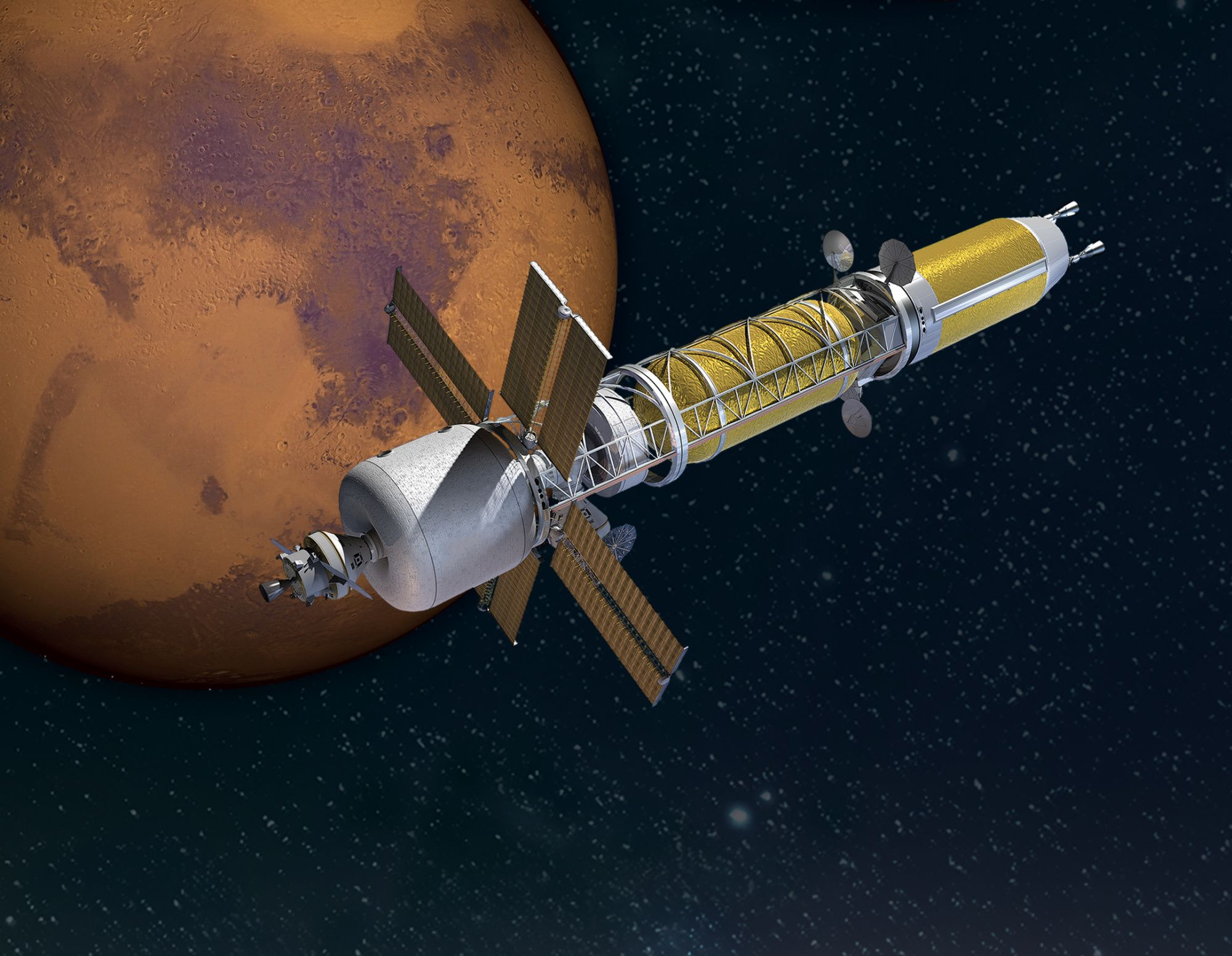 nasa wants nuclear thermal engines to fly humans to marsReal Spaceships Engine Diagram #11