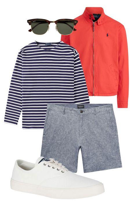 Clothing, White, Red, Product, Sleeve, Outerwear, Fashion, Footwear, Denim, Sportswear,