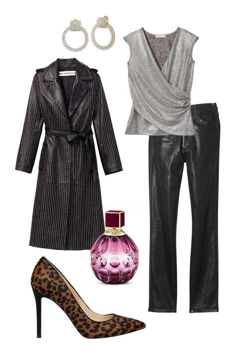 Clothing, Black, Pink, Footwear, Dress, Fashion, Design, Formal wear, Sleeve, Shoe,