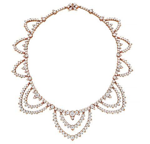 Aerial Regal Collar玫瑰金鑽石項鏈