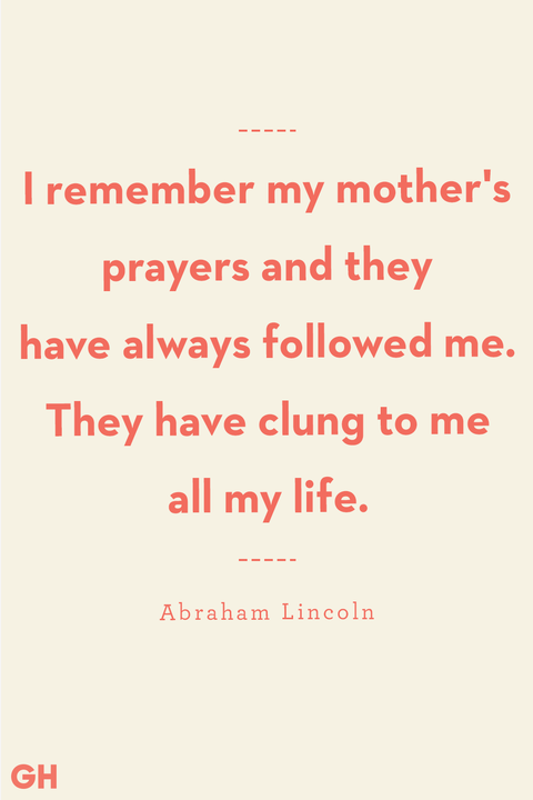 mother son quote from abraham lincoln