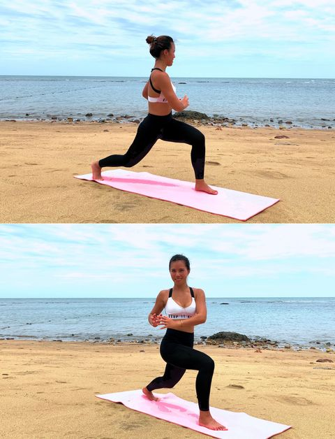 Physical fitness, Individual sports, Yoga, Sports, Joint, Balance, Lunge, Arm, Leg, Knee,