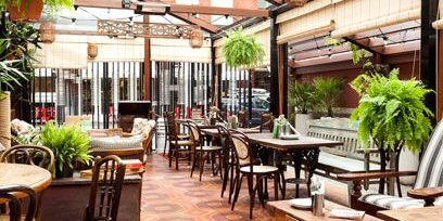 Restaurant, Building, Property, Café, Patio, Room, Interior design, Real estate, Coffeehouse, Resort,