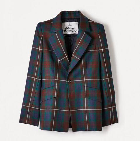 vivienne westwood tartan smart jacket blazer printed checks