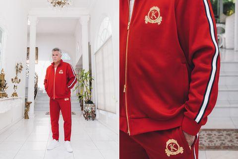 Red, Clothing, Uniform, Sportswear, Sleeve, Jersey, Fashion, Outerwear, Robe, Street fashion,