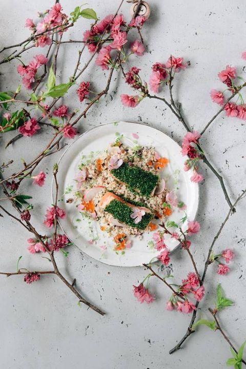 鮭魚北非小米