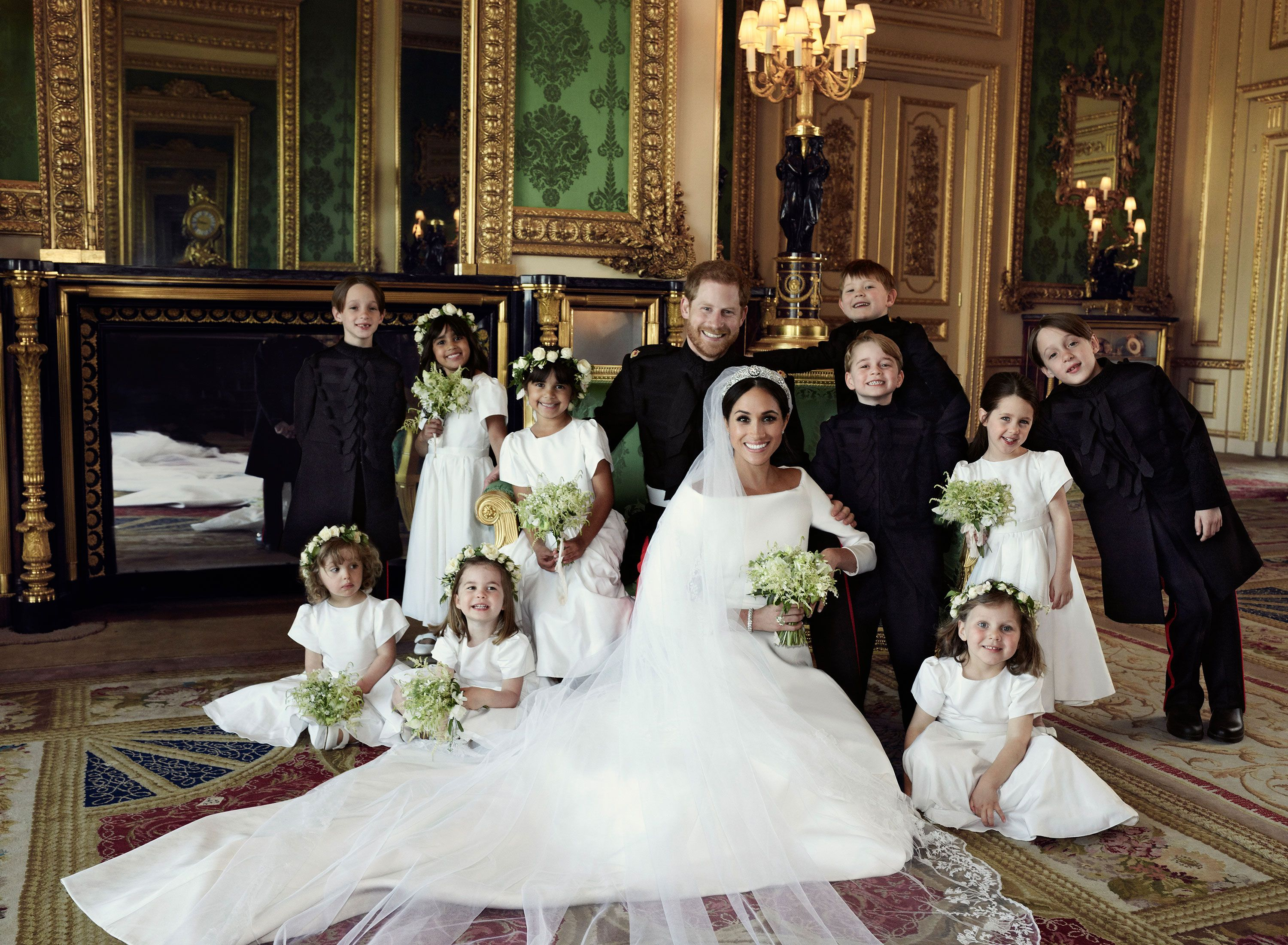Family Portrait Harry And Meghan Wedding