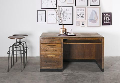 Table, Room, Drawer, Floor, Wall, Interior design, Picture frame, Cabinetry, Rectangle, Grey,